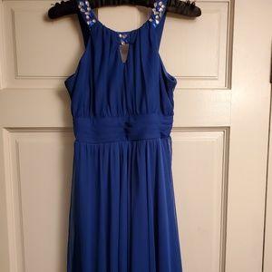 Rare Editions Gorgeous Royal Blue Halter Dress